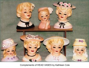 collection of head vases