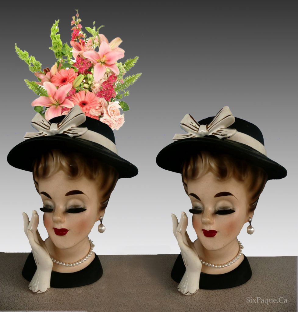 two head vases