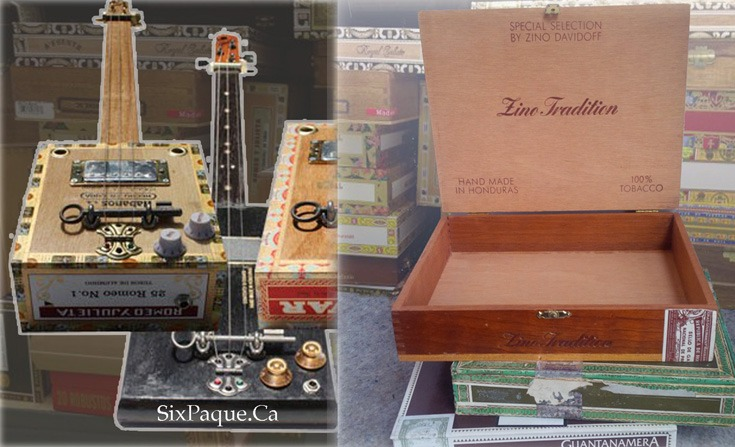 Old Time Instruments cigar boxes