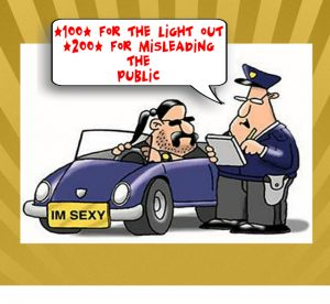 Policeman  pulling over a car driver JOKE