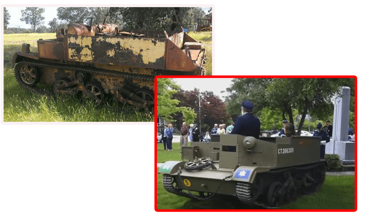 2 OLD MILITARY EQUIPMENT Universal Carriers