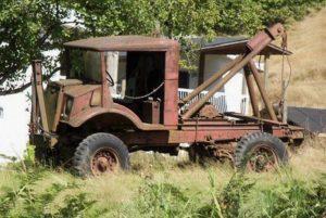 military scrap yard truck