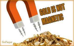 gold is not magnetic