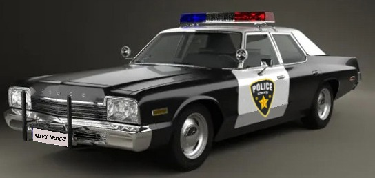 Decommissioned hot rod police Car