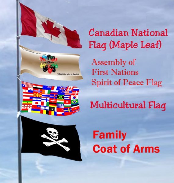 Flying Canada flag