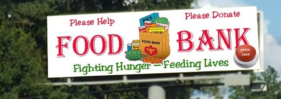 donate to the food bank billboard