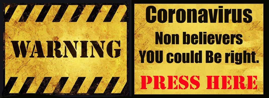 Warning none believers could be right banner