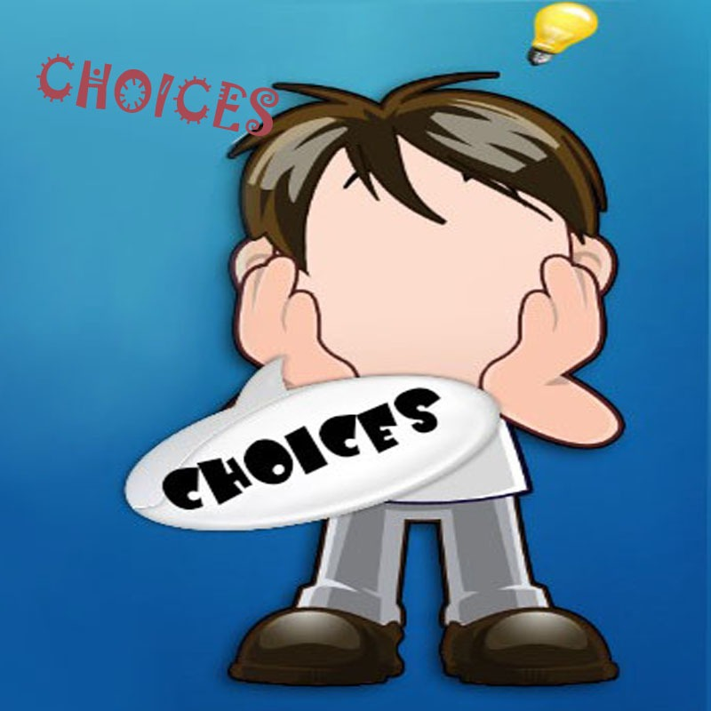 person making choices