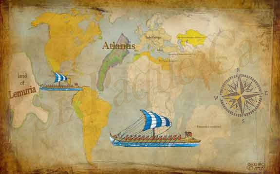 World Map of Atlantis