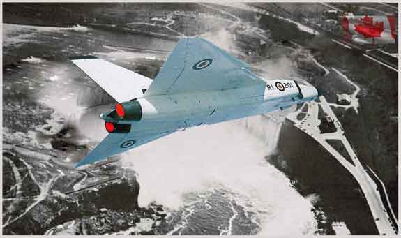 Avro Arrow over -Niagara-Falls-